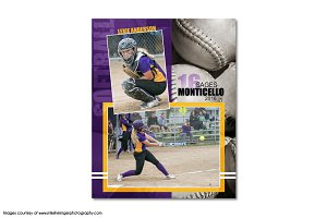 Softball Memory Mate Template MM4