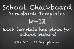 School Chalkboard Scrapbook Template