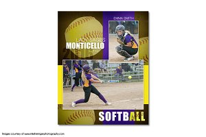 Softball Memory Mate Template - MM6