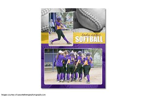 Softball Memory Mate Template - MM8