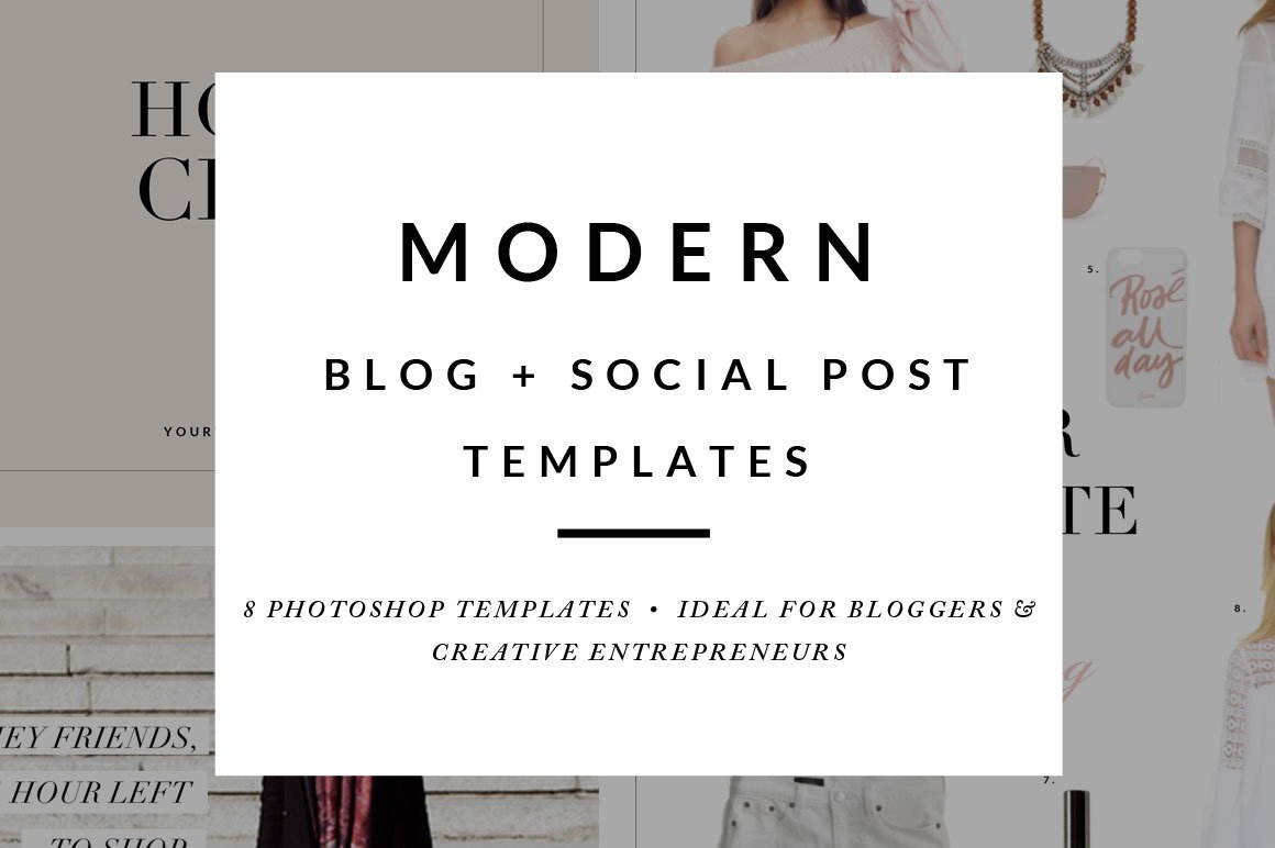 Blog Post Social Media Templates Web Elements Creative Market - Social media post template
