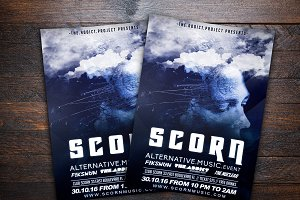 Scorn Alternative Music Flyer