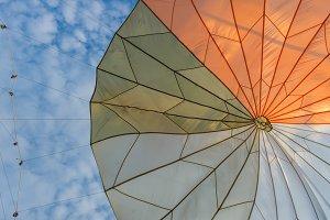 colorful of umbrellas urban