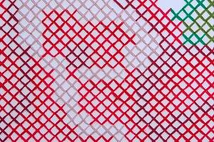 Yarn pattern weave on wall