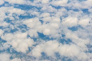 Aerial view of clouds sky