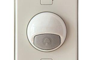 doorbell modern style isolate