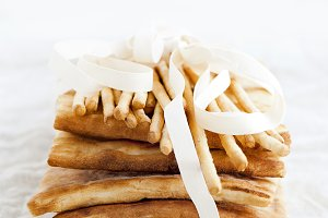 Bread sticks and pita bread