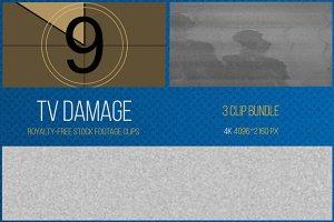 TV Damage: 3 Clip Footage Bundle