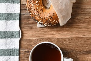 Bagel Coffee Sugar
