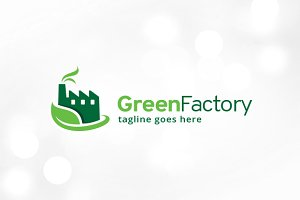 Green Factory Logo Template
