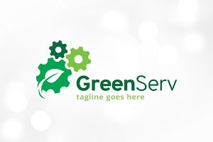 Green Service Logo Template