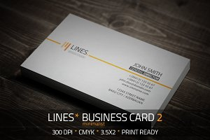 Lines Minimalist Business card 2
