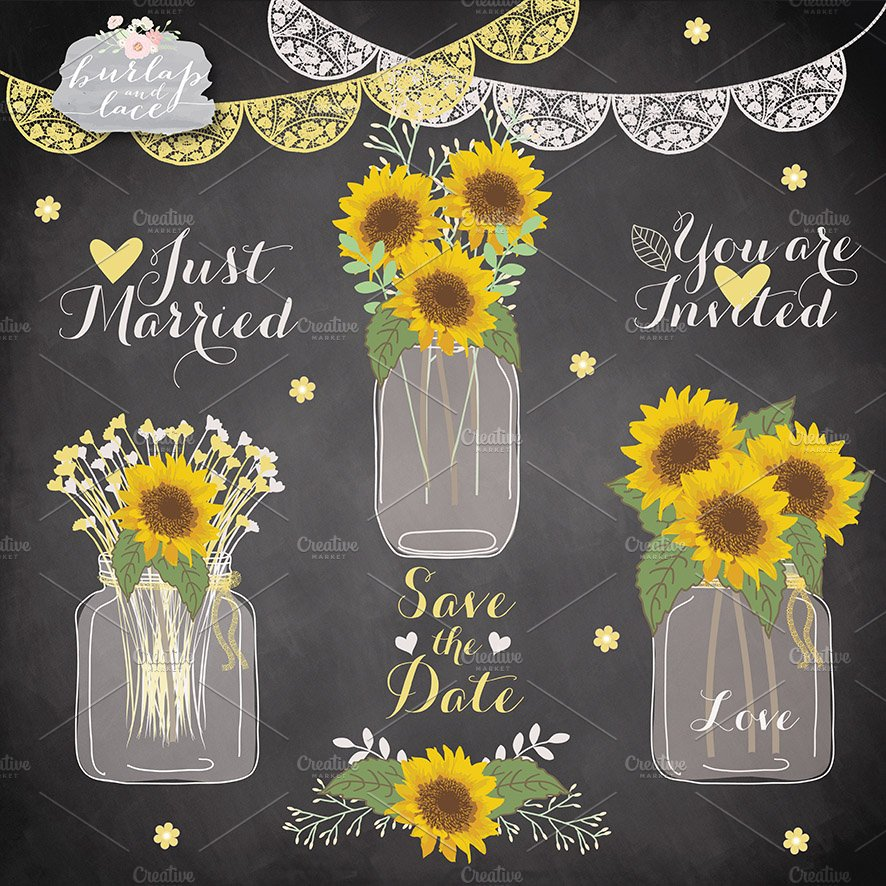 Sunflower cliparts ~ Illustrations ~ Creative Market