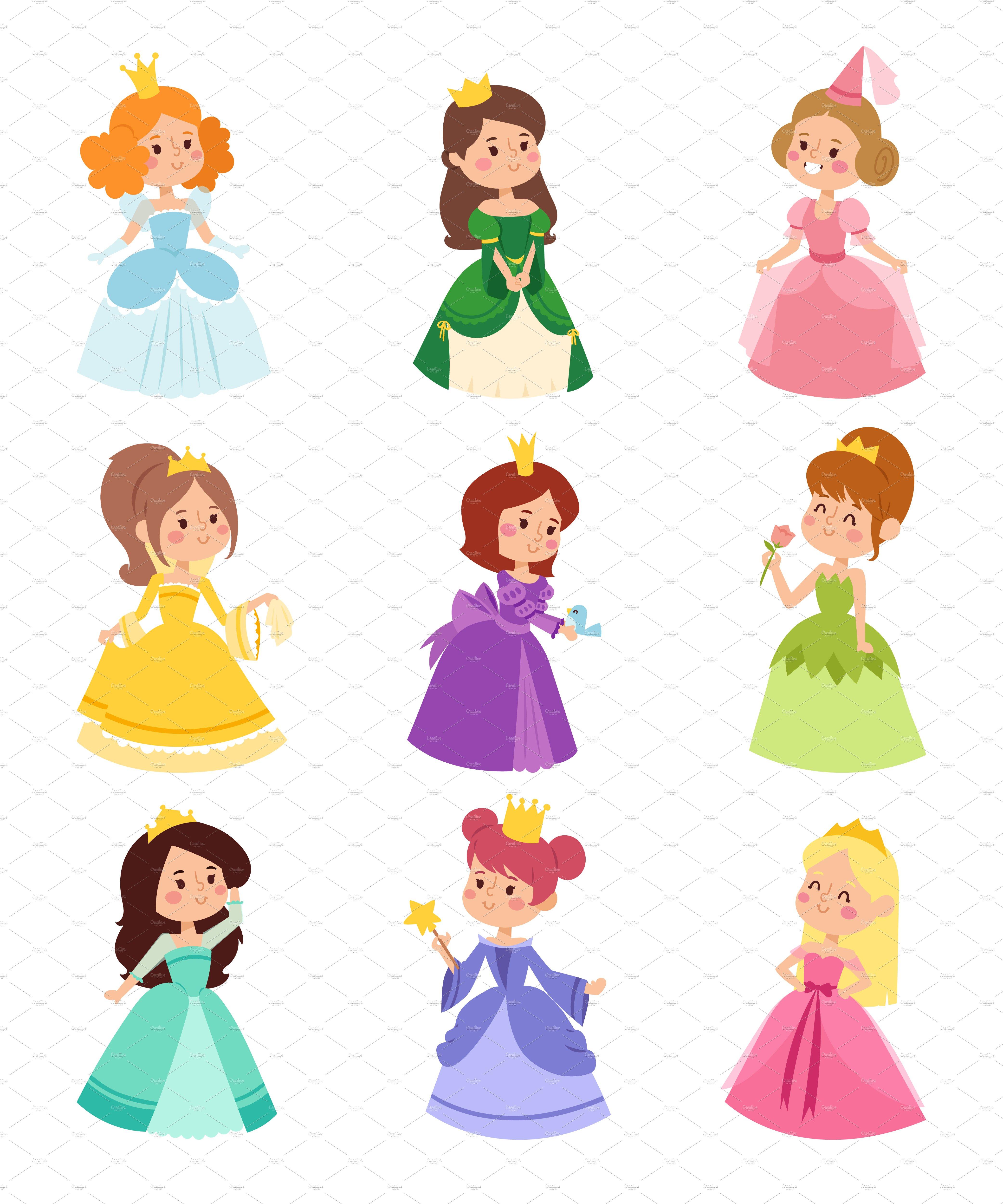 Princess vector set ~ Illustrations ~ Creative Market