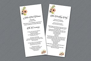 Wedding Program Ceremony Template