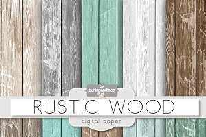Rustic wood teal