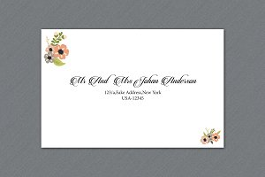 Wedding Envelope Template