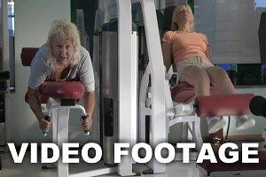 Women doing leg exercises