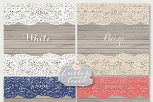 Vector Navy Blue Coral Red lace