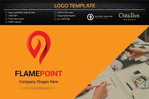 Flame Point Logo - Logo Template