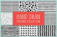 Hand drawn pattern collection