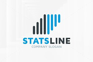 Stats Line Logo Template