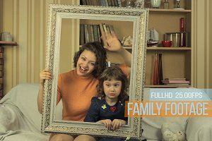Family - Stock Video Footage Clip