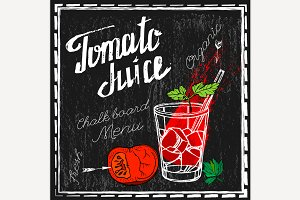 Tomato Juice Illustration