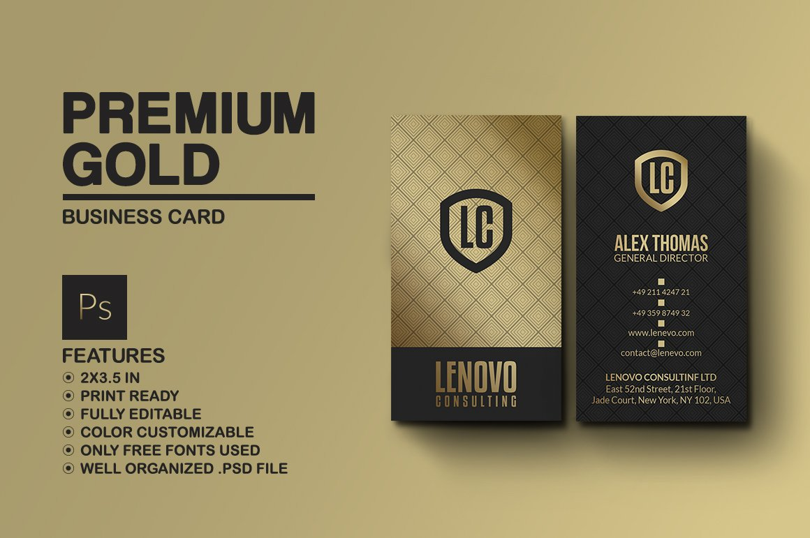 Premium Gold And Black Business Card ~ Business Card Templates ...