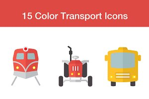Transport flat Icons