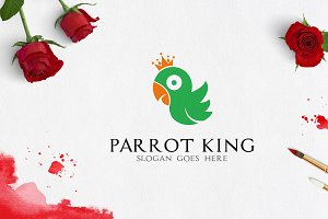 Parrot King Logo Template