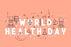 Medicine concept World health day