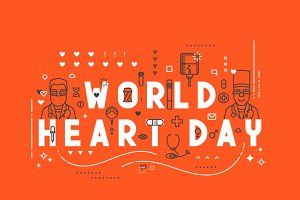 Medicine concept World heart day