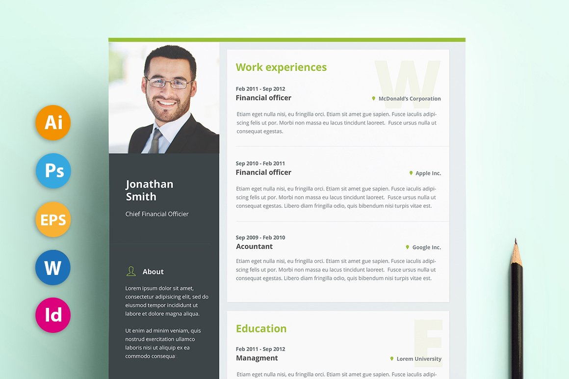 resume cv pro material resume templates creative market