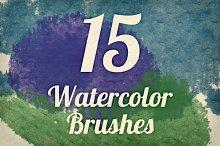 Watercolor Strokes Brush Pack 4