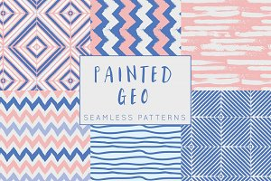 Painted Geo Seamless Patterns