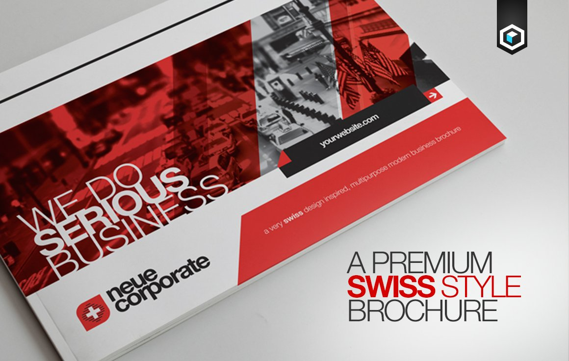 RW Swiss Modern Corporate Brochure Brochure Templates Creative - Modern brochure template