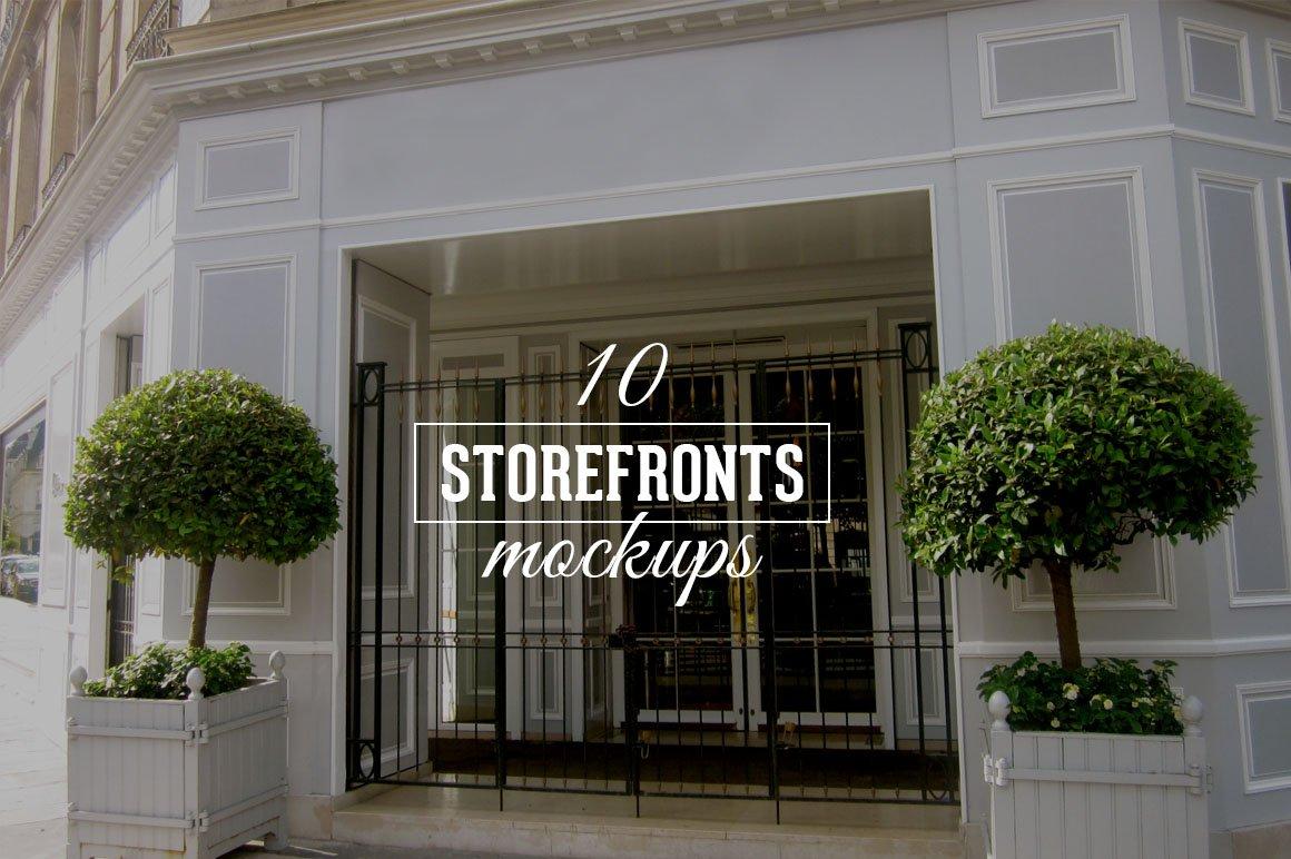 10 facade mockups product mockups creative market. Black Bedroom Furniture Sets. Home Design Ideas