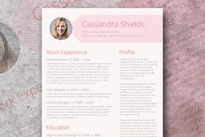 Blush & Pixie Word Resume