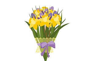 Daffodil bouquet vector illustration