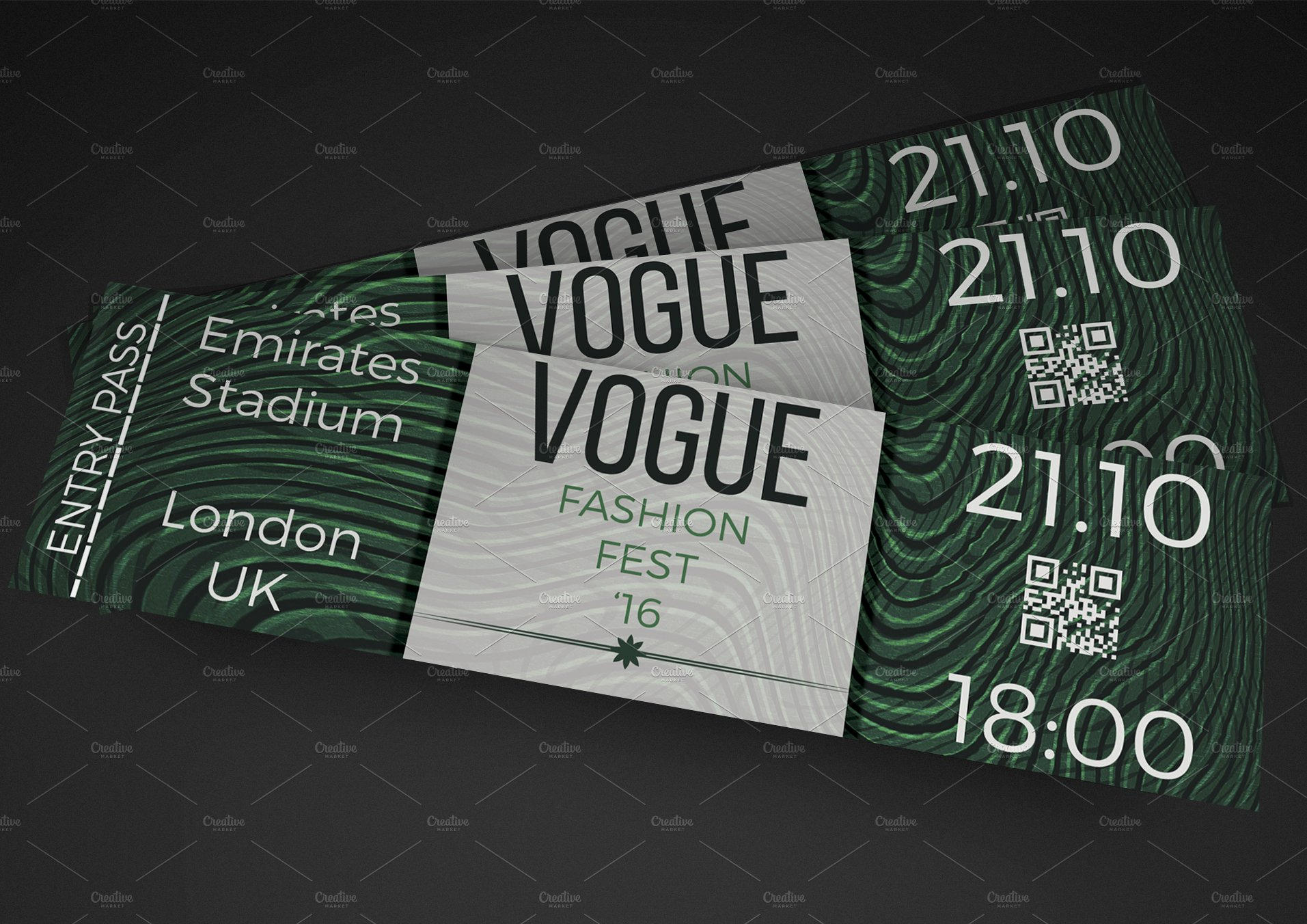 Fashion show event ticket invitation templates for Fashion show ticket template