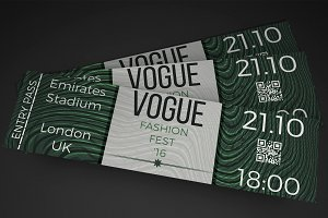 Fashion show event ticket