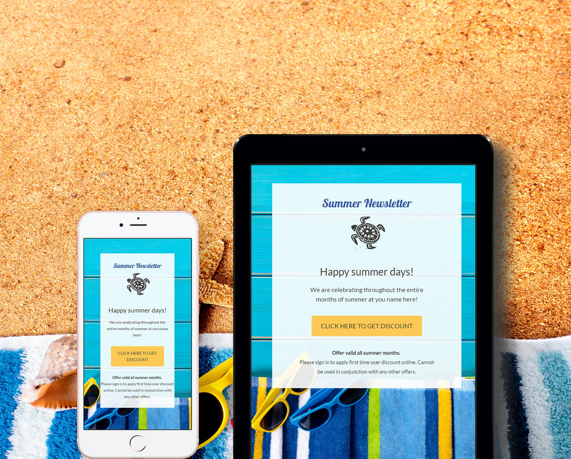 Summer mailchimp eblast email templates creative market for E blast templates free