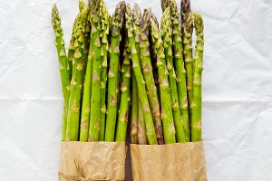Asparagus in paper bag