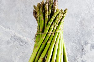 asparagus bunch on a gray