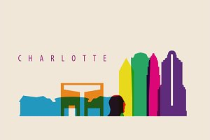 Charlotte City Skyline Illustration