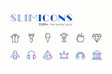 Slimicons - 3300 Line Vector Icons