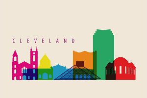 Cleveland City Skyline Illustration