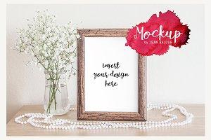 Elegant Wooden Frame Mockup