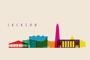 Jackson City Skyline Illustration